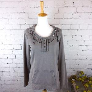 Prana embroidered hoodie sweatshirt w/ pocket